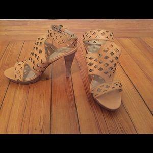 Max Studio Tan Leather Sandals